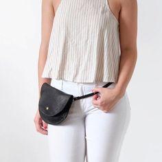 Leather Fanny Pack Bum Bag or Hip Bag The Ester Fanny Pack