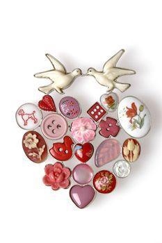Grainne Morton :: Contemporary Jewellery :: Lovebirds Brooch