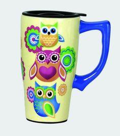 Unique Coffee Mugs | Unique Owl Lovers Coffee Travel Mug with Plastic Lid | eBay
