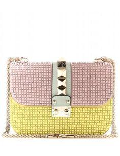 Lock Small Embellished Leather Shoulder Bag + Valentino : mytheresa.com #handbag #valentino #women #designer #covetme