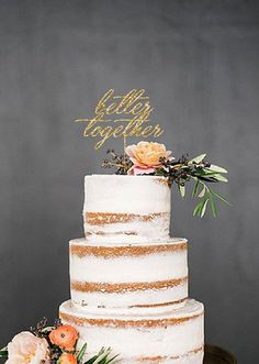 Incredible Edibles Bakery loves  Custom Wedding Cake Topper Better Together by CustomMadeJust4You