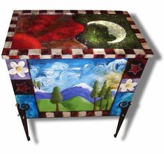 painted furniture - I don't usually like most painted furniture, but I like this one.