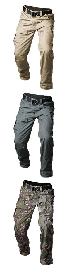 Mens Outdoor Cargo Pants: Waterproof /Multi-pocket