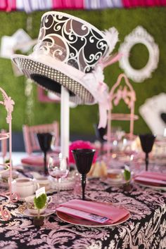 Some great decor from our Mad Hatter Tea Party! www.IconicEventStudios.com