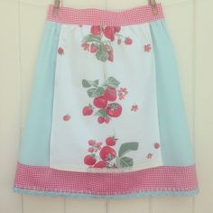 Finished this sweet vintage strawberry picnic apron that will be headed to the shoppe come mid June!