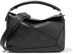Loewe - Puzzle Leather Shoulder Bag - Black