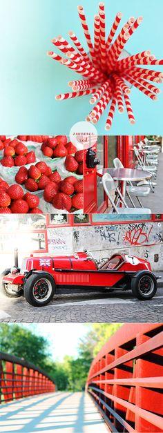 red & aqua for clara's room
