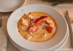Tender lobster meat in a sherry cream stew. Decadent and delicious. Lobster Dishes, Lobster Meat, Lobster Recipes, Fish Dishes, Seafood Dishes, Lobster Tails, Shellfish Recipes, Seafood Recipes, Soup Recipes