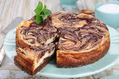 Cheesecake con chocolate