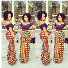 african inspired formal dresses | ... styles trendy ankara styles african beautiful women dresses 2013