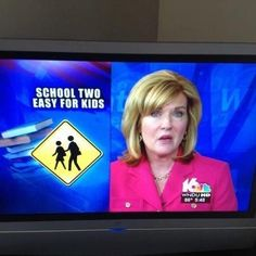how embarassing. thats the news anchor form my city..smh..