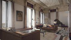 Proyecto de interiorismo de la Casa Burés - Principal   vilablanch. Estudio de arquitectura interior situado en Barcelona. Proyectos de restauración, llave en mano y para promotoras