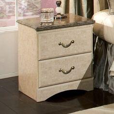 Standard Furniture Florence 19 Inch Nightstand in Jura Bl...