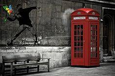Fotomural de cabina telefónica roja de Londres - http://vinilos.info/producto/fotomural-de-cabina-telefonica-roja-de-londres/  Fotomural de los más vendido Calidad premium Fácil de colocar Varias medidas para comprar    #Comedor, #Dormitorio, #HabitaciónJuvenil, #Oficina, #Recibidor, #Salón   #decoracion #londres