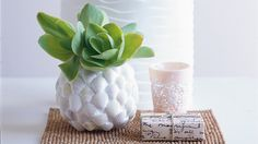 How to make a shell vase