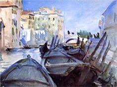 Venetian Canal Scene - John Singer Sargent