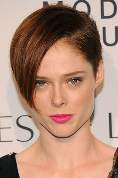 When you have thick hair, you don't want a short cut to look too bulky. A close-cropped under layer like Coco Rocha's lets you play with length in the front without any of the heaviness.
