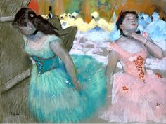 The Entrance of the Masked Dancers, Edgar Degas, Gallery: Sterling and Francine Clark Art Institute at Williamstown, MA, USA Edgar Degas, Degas Ballerina, Degas Dancers, Ballet Dancers, Ballerinas, Ballet Art, Renoir, Degas Paintings, Pastel Paintings