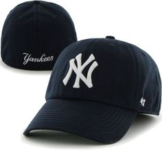 90138509bf592 New York Yankees NY 47 Brand MLB Franchise Fitted Cap Curved Navy Dad Hat