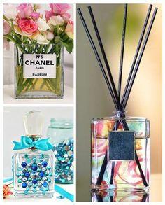 Já pensou em transformar os frascos de perfume em objetos de decoração? #decoração #diy #artesanato #frascos #perfume