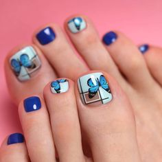 VK is the largest European social network with more than 100 million active users. Pedicure Nail Art, Nail Designs, Nailart, Beauty, Night, Projects, Pretty Pedicures, Feet Nails, Body Care