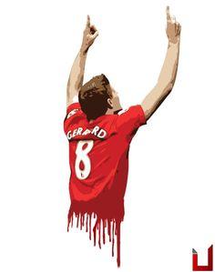 ☼ #LFC #artwork Great Gerrard illustration courtesy of @UKILFC