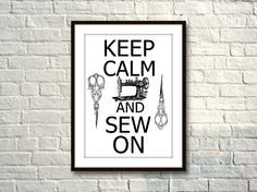 CEEP CALM and SEW  r204  Kunstdruck Digiprint   von Vintage Prints auf DaWanda.com
