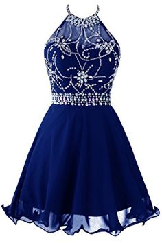 Topdress Women's Short Beaded Prom Dress Halter Homecoming Dress Backless Royal Blue US 2 - http://best-women-shop.xyz/2016/06/09/topdress-womens-short-beaded-prom-dress-halter-homecoming-dress-backless-royal-blue-us-2/