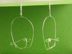 birdcage wire sculpture earrings by Fold  $50