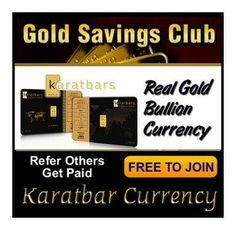 "See why it's paramount to Save in Gold Currency with the knowledge that every fiat currency in history has failed.  After the video contact me to start your FREE Gold Currency Savings Account (Text ""GOLD"" to 404.242.7324)  http://www.youtube.com/watch?v=w5eLDH3iFlw&feature=youtu.be"