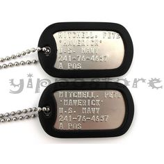 Top Gun MAVERICK Military Authentic Replica Stainless Steel Dog Tag... ($5.99) ❤ liked on Polyvore featuring costumes, military costumes, top gun costume, top gun halloween costume and military halloween costumes