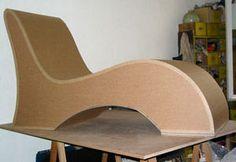 Designing Cardboard Furniture: 8 Steps (with Pictures) Cardboard Chair, Diy Cardboard Furniture, Paper Furniture, Funky Furniture, Woodworking Furniture, Home Decor Furniture, Furniture Design, Cardboard Playhouse, Cardboard Toys
