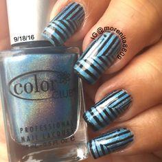 Blue Holo  #holographic #nailart #bluenails