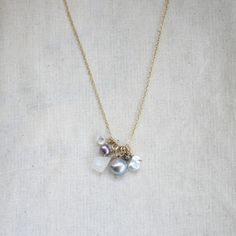 June Birthstone Necklace now featured on Fab.