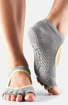 ToeSox+'Bella'+Half+Toe+Gripper+Socks+available+at+#Nordstrom i need the grey ones