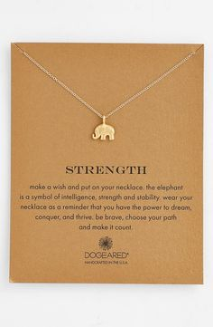 'Reminder - Strength' Pendant Necklace