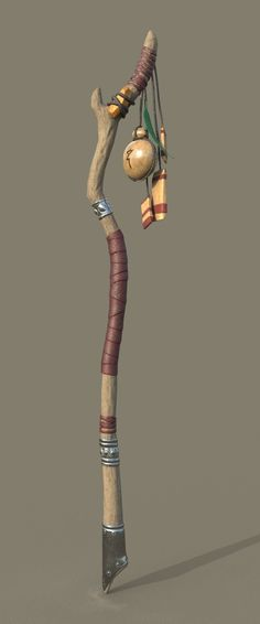 Wooden Mage Staff, Jacob Levine on ArtStation at https://www.artstation.com/artwork/W3NP2