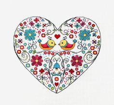 Cross stitch pattern, heart needlepoint, birds sampler by LaMariaCha on Etsy https://www.etsy.com/listing/159596654/cross-stitch-pattern-heart-needlepoint