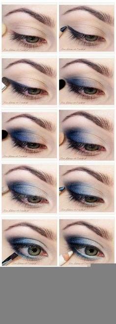 www.makeupmacosme... Blues Eyeshadow tutorial [ Site's in Polish.]