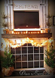 Down to Earth Style: Shabby Twinkle Garland