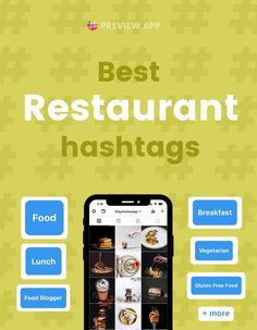 Let's look at some of the best Instagram hashtags for restaurants, cafes, bars. As a restaurant, you want 2 things: more customers and more Instagram reach. Hashtags are one way to do that. Copy & paste these Instagram hashtags from Preview App to get more reach, customers and satisfy the Instagram algorithm. #instagramtips #instagramstrategy #instagrammarketing #socialmedia #socialmediatips Best Instagram Hashtags, Instagram Marketing Tips, Instagram Bio, Food Hashtags, Hashtag Finder, Lunch Photos, Instagram Feed Planner, Breakfast Photo, Tea Cocktails