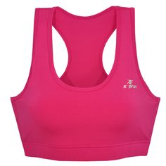 35d94086cb716 ESPRINT Women s Athletic Aerobic Fitness Tank Top Compression Sports Bra  A403  Xprin  BaseLayers Pink
