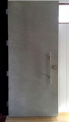 Carved Grid Door | Concrete Greige & Gauze Door \u2013 Graphite \u0026 Magenta | Axolotl | Dwell - Exterior ...