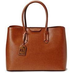 City Tote (Lauren Tan/coco) (1797 kr) - Lauren Ralph Lauren |... via Polyvore featuring bags, handbags, tote bags, city tote bag, brown handbags, tan tote, brown tote and tan handbags