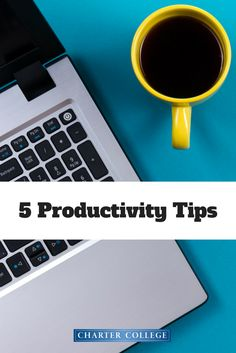 Every busy student should know how to stay organized and get things done efficiently. Being productive can also help you be successful in your career. Here are the top 5 productivity tips you should be doing.