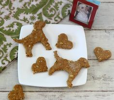 Pumpkin Dog Bones - A healthy, simple dog treats made with pumpkin, peanut butter and oats. The perfect gift for dog lovers.