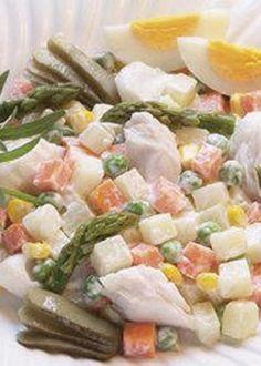 Salada de Legumes e Peixe com Maionese