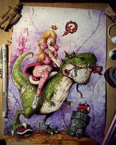 You cant tell me this isnt dope. Video Games Consoles Console Mario Zelda Nintendo Switch Playstation Xbox One Retro Nostalgia Xbox Atari NES SNES Sega Genesis Master System Game Gear Gameboy GameCube Wii Wii U Evvi Art, Art Sketches, Art Drawings, Character Art, Character Design, Princesa Peach, Art Disney, Video Game Art, Video Games