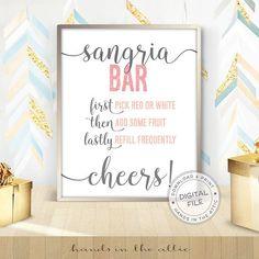 Sangria Bar sign #BridalShower #SangriaBar #sangria