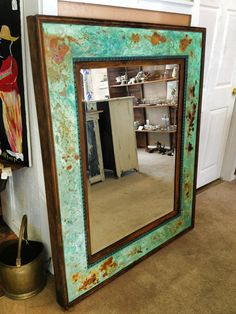 Oxidation and Patina on Mirror Frame | Project by Hoity Toity Peacock with Modern Masters Metal Effects